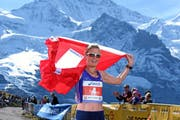 Die Schweizerin Conny Berchtold wird am 23. Jungfrau Marathon Dritte und ist beste Schweizerin. (Bild: pd/ swiss-image.ch / Photo Remy Steinegger)