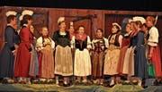 Harmonie auf der ganzen Ebene: das Tschiferli-Cheerli bei seinem Jahreskonzert. (Bild: Birgit Scheidegger (Kägiswil, 11. März 2017))