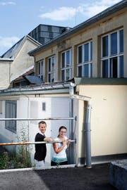 Samuel Steinemann und Judith Brügger wollen den Fokus für das Casino öffnen. (Bild Stefan Kaiser)