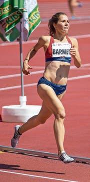 Stefanie Barmet (Willisau) läuft hier auf 1500 Metern der Goldmedaille entgegen. (Bild: Hanspeter Roos (Zürich, 22. Juli 2017))