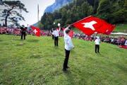 Auf dem Rütli sind am 1. August nur Schweizer Flaggen und Kantonsfahnen erlaubt. (Archivbild Neue LZ/Dominik Wunderli)