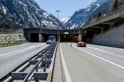Das Nordportal des Gotthard-Strassentunnels. Der Entschid über eine zweite Röhre wurde vom Ständerat vertagt. (Bild: Keystone / Gaetan Bally)