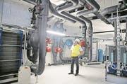 Die Energiezentrale im Bürgenstock Resort wird unter anderem für die Heizung und Kühlung der Gebäude genutzt. (Bild: Corinne Glanzmann (Bürgenberg, 17. Mai 2017))