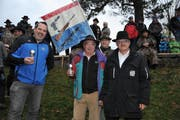 Die Bechergewinner der Sektion Luzern: Marco Wicki (links) und Fredy Birrer (Bild: Urs Hanhart)