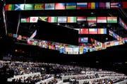 Im Zürcher Hallenstadion wird der 65. Kongress der FIFA ausgetragen (Bild: KEYSTONE/PATRICK B. KRAEMER)