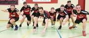 Die Neuenkircher freuen sich über den Cupsieg. Bild: Eveline Beerkircher (Wolhusen, 11. März 2017)