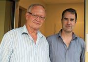 Peter Wipfli, Präsident Procap Uri (links), und Martin Boltshauser von Procap Schweiz. (Bild: ku (Altdorf, 19. 6. 17))