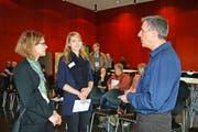 Projektleiterin Marina Delgrande, Referentin Yvonne Eichenberger und Patrick Csomor, Leiter Gesundheitsamt (von links). Bild: Marion Wannemacher