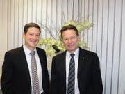 Christoph Baumgartner (links) soll Vorsitzender der Bankleitung werden, Verwaltungsratspräsident ist Bruno Poli. (Bild: Kurt Liembd)