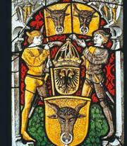 Urner Wappenscheibe von 1501 aus dem Tagsatzungssaal Baden. (Bild: pd)