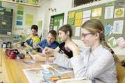 An den Urner Schulen – hier in Bristen – wird ab dem 1. August 2017 der Lehrplan 21 gelten. (Bild: Florian Arnold (Bristen, 4. April 2016))