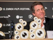 Hugh Grant, wie man ihn kennt: charmant und witzig. Der Brite ist am Dienstag zu Gast am 12. Zurich Film Festival. (Bild: Keystone/ENNIO LEANZA)