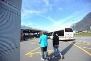Bahnhof Altdorf: Hier sollen bis 2021 strassenseitige Anpassungen und Bushöfe gebaut werden. (Bild: Urs Hanhart)