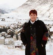 Gemeindepräsidentin Yvonne Baumann rechnet im kommenden Jahr mit mehr Steuereinnahmen. (Bild: Urs Hanhart (Andermatt, 4. Januar 2017))