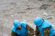 Uno-Blauhelmsoldaten sollen Mädchen missbraucht haben im Kongo. Im Symbolbild: Uno Soldaten bei einer Übung in Stans. (Bild: Archiv/ Neue Luzerner Zeitung)