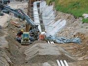 Der Bau des Kraftwerks Realp II gestaltet sich aufwendiger als erwartet. (Bild: PD (Realp, 21. August 2017))