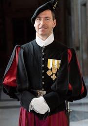 Lorenz Keusch in der Uniform der Schweizergarde. (Bild:PD)