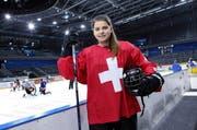 Noemi Ryhner (hier in der Zuger Bossard-Arena) hat bereits für die A-Nationalmannschaft gespielt. (Bild Werner Schelbert)