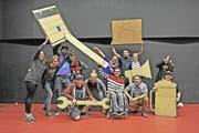 Die Betriebsgruppe des Jugendkulturhauses Senkel in Stans. (Bild: pd)