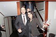Als der Abend noch jung war: Markus Hürlimann und Jolanda Spiess-Hegglin an der Landammannfeier. (Bilder Charly Keiser)