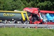 Ein Blick auf die Unfallstelle in Piotta TI. (Bild: Keystone / Ti-Press)