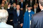 Vereidigung des Kantonsratspräsidenten Franz Wüest. (Bild: PD)