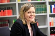 Heidi Z'graggen setzt im Regierungsrat auf Eigenverantwortung der Direktionsvorsteher und legt Wert auf den Konsens. (Bild Florian Arnold)