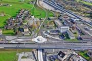 Landrat Simon Stadler fordert, dass das Industrieareal der Ruag verdichtet wird. (Bild: Visualisierung PD)