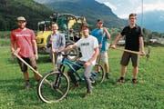 Von links: Claudio Schnurrenberger, Urban Renggli, Mario Gisler, Florian Geisseler und Philipp Gisler. (Bild: Florian Arnold (Schattdorf, 20. Juli 2017))