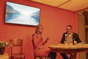 SRF-Moderatorin Sabine Dahinden zu Gast bei «Greedi üüsä» mit Ruedi Bomatter. (Bild: Remo Infanger (Altdorf, 21. April 2017))