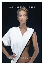 So wirbt Model und Wettermoderatorin Linda Gwerder für einen Fitnessstudio. (Bild: PD)