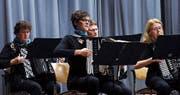 Das Akkordeon-Orchester Zug-Baar spielt ebenfalls am Festival. (Bild: Werner Schelbert (Baar, 2. November 2014))