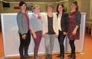 Die Vorstandsmitglieder des neu gegründeten Vereins (von links): Erika Imhof (Vizepräsidentin), Tanja Bucher (Kasse), Pamela von Arx (Aktuarin), Claudia Fedier (Präsidentin), Carmen Zurfluh (Weiterbildung). (Bild: PD (Altdorf, 18. September 2017))