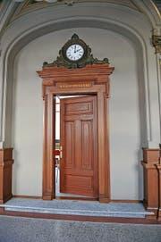 Eingang zum Gerichtssaal beim Obwaldner Kantonsgericht in Sarnen. (Bild Corinne Glanzmann)