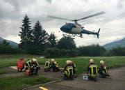 Der Zürcher-Polizeiheli, hier bei einer Übung in Schwyz. (Archivbild)