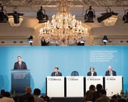Thomas Jordan sprach am Donnerstag zur geldpolitischen Lagebeurteilung der Nationalbank. (Bild: Anthony Anex/Keystone (Bern, 15. Juni 2017))