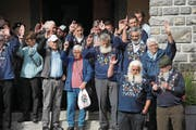 Die Wahl des neuen Sennenvaters der Sennenbruderschaft Bürglen fiel einstimmig aus. (Bild: Urs Hanhart (Spiringen, 29. September 2017))