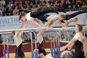 Rickenbach läuft es am Barren im Final nicht wie gewünscht: Die Michelsämter holen sich am Schluss die Bronzemedaille. (Bild Marianne Baschung)