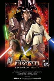 Die Protagonisten der zweiten Trilogie, Teile 1 bis 3 (von links): Padmé (unten), Yoda, Der Imperator, Anakin Skywalker, der junge Obi Wan Kenobi, Mace Windu. (Bild: PD)