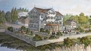 Aufnahme vom Vorgänger des heutigen Hotels Sonnenberg, das in Seelisberg steht. (Bild: Christoph Näpflin (6. November 2017))