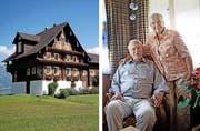 Sie bewohnen ein Objekt von regionaler Bedeutung: Paul (92) und Mathilde Burch (84) in ihrer Stube im Haus Stalden (Jahrgang 1760). (Bilder Corinne Glanzmann)