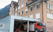 Der Erweiterungsneubau der Feuerwehr. (Bild: gw (Erstfeld, 26. 1. 18))