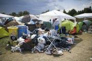 Wo sich der Abfall der versammelten Fans sammelte. (Bild: Keystone/Gian Ehrenzeller)