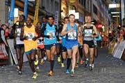 Das Elitefeld (hier beim Stadtlauf 2014) wird dieses Jahr von Europäern dominiert. (Bild Philipp Schmidli)