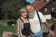 Bauer Sepp und seine Claudia. (Bild: Urs Hanhart (Bürglen, 24. August 2017))