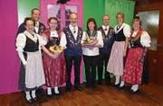 Von links: Luzia Bissig, Kurt Gisler, Julia Bissig, Toni Marty, Vreni Planzer, Peter Gisler, Michelle Arnold und Agnes Gnos. (Bild: PD)