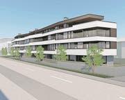 Visualisierung des Neubaus an der Engelbergstrasse 39 in Stans.Zur Verfügung gestellt am 28.2.18 von Stefan Meyer, Maimmob AG, Stans. (Bild: Visualisierung: PD)