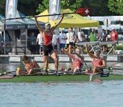 Die Sieger von links nach rechts: Pascal Ryser, Andri Struzina, Julian Müller und Matthias Fernandez. (Bild: PD (Plovdiv, 22. Juli 2017))