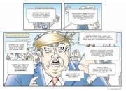 Ein Grossmaul: Pointiert wird Trump in Bild und Text charakterisiert. (Bild: Splitter Verlag)