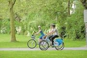 Das Veloverleihsystem Nextbike soll künftig auch in weiteren Gemeinden angeboten werden. (Bild: Christian Perret/PD)